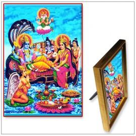 Lord Vishnu On Sheshnaag Photo
